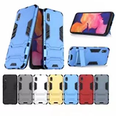Недорогие Чехлы и кейсы для Galaxy Note 4-Кейс для Назначение SSamsung Galaxy S9 / S9 Plus / S8 Plus Защита от удара / со стендом Кейс на заднюю панель Однотонный ПК