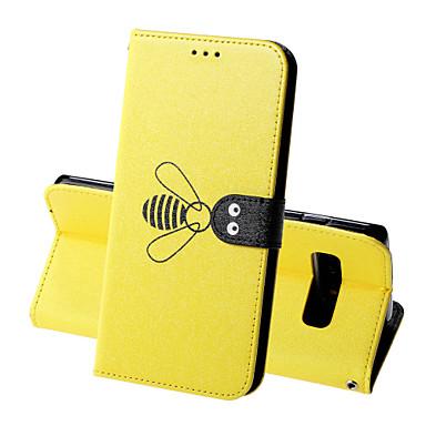 voordelige Galaxy S-serie hoesjes / covers-hoesje Voor Samsung Galaxy S9 / S9 Plus / S8 Plus Portemonnee / Kaarthouder / Schokbestendig Volledig hoesje Effen / dier Hard PU-nahka