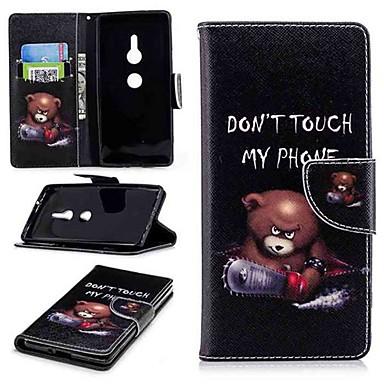voordelige Hoesjes / covers voor Sony-hoesje Voor Sony Sony Xperia 10 / Xperia XZ2 / Xperia XA2 Ultra Portemonnee / Kaarthouder / met standaard Volledig hoesje Woord / tekst Hard PU-nahka