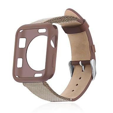 Недорогие Корпуса Apple Watch с ремешком-чехол с ремешком для яблок смотреть серия 4/3/2/1 ткань / силикон / совместимость с натуральной кожей apple