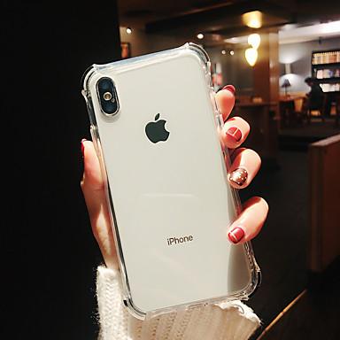 voordelige iPhone-hoesjes-hoesje Voor Apple iPhone XS / iPhone XR / iPhone XS Max Schokbestendig / Beplating / Spiegel Achterkant Transparant TPU