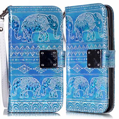 Недорогие Чехлы и кейсы для Galaxy S6 Edge-Кейс для Назначение SSamsung Galaxy S9 / S9 Plus / S8 Plus Кошелек / Бумажник для карт / со стендом Чехол Животное Кожа PU