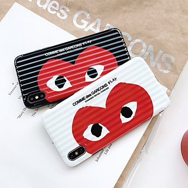 voordelige iPhone 7 hoesjes-hoesje Voor Apple iPhone XS / iPhone XR / iPhone XS Max Ultradun / Patroon Achterkant Hart / Cartoon TPU