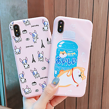 voordelige iPhone 6 Plus hoesjes-hoesje Voor Apple iPhone XS / iPhone XR / iPhone XS Max Waterbestendig / Patroon Achterkant dier TPU