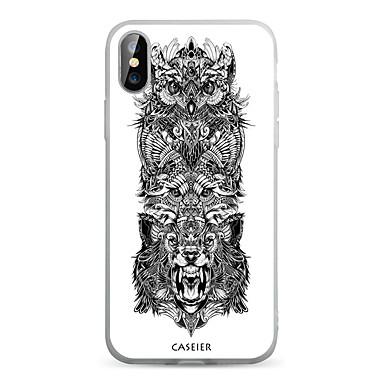 voordelige iPhone 5 hoesjes-hoesje Voor Apple iPhone XS / iPhone XR / iPhone XS Max Stofbestendig / Doorzichtig / Patroon Achterkant dier TPU