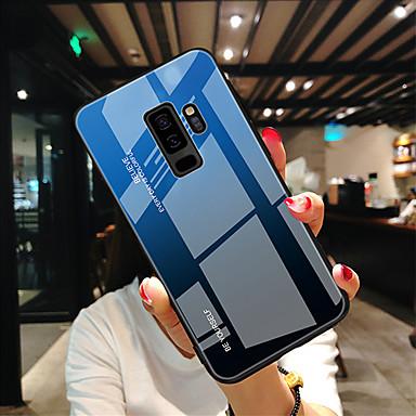 voordelige Galaxy Note-serie hoesjes / covers-hoesje Voor Samsung Galaxy S9 / S8 / Note 9 Ultradun Achterkant Kleurgradatie Gehard glas
