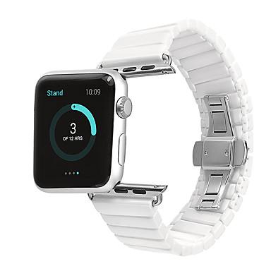 voordelige Smartwatch-accessoires-Horlogeband voor Apple Watch Series 4/3/2/1 Apple Butterfly Buckle Keramiek Polsband