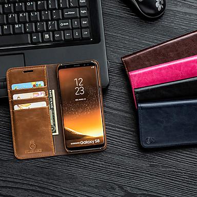 voordelige Galaxy Note-serie hoesjes / covers-Musubo flip lederen telefoonhoesje voor Apple Samsung Galaxy S10 Lite Plus S9 S8 Note 10 Magnetische standaard Volledige behuizing voor Samsung Galaxy S9 S8 Note 9 8 7