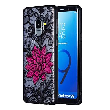 Недорогие Чехлы и кейсы для Galaxy S6 Edge-Кейс для Назначение SSamsung Galaxy S9 / S9 Plus / S8 Plus Прозрачный Кейс на заднюю панель Цветы ТПУ / ПК