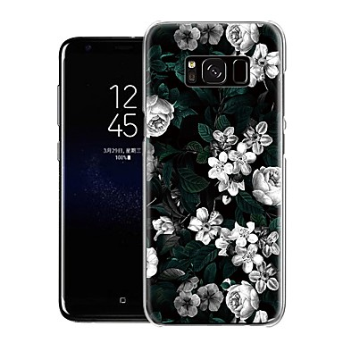 저렴한 Galaxy S6 Edge 케이스 / 커버-케이스 제품 Samsung Galaxy Galaxy S9 / S9 Plus / S8 Plus 방진 / 스탠드 / 울트라 씬 뒷면 커버 꽃장식 TPU