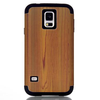 voordelige Galaxy S-serie hoesjes / covers-hoesje Voor Samsung Galaxy S7 / S6 edge / S6 Schokbestendig Achterkant Houtnerf TPU / PC
