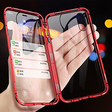 voordelige iPhone 6 hoesjes-magnetische adsorptie metalen telefoonhoes voor iphone xs max xr xs x dubbelzijdige glazen magneethoes voor iphone 8 plus 8 7 plus 7 6 plus 6 schokbestendige hoesjes