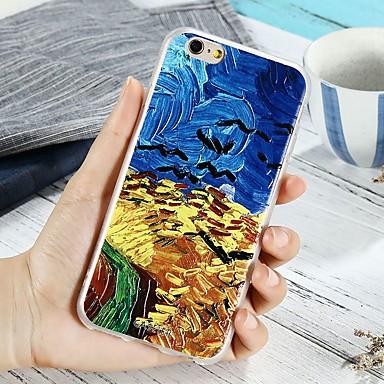 voordelige iPhone 5 hoesjes-hoesje Voor Apple iPhone X / iPhone 7 Plus / iPhone 7 Patroon Achterkant Landschap Zacht TPU