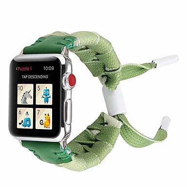 Недорогие Ремешки для Apple Watch-Нейлоновые плетеные ленты 44 мм / 40 мм / 38 мм / 42 мм красочные веревки серии iwatch 4/3/2/1 браслет ручной работы плетение плетение браслет для яблочных часов