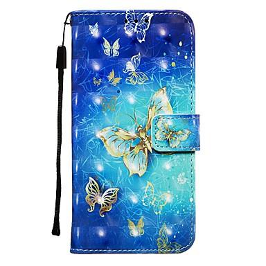 voordelige iPhone-hoesjes-hoesje Voor Apple iPhone 11 / iPhone 11 Pro / iPhone 11 Pro Max Portemonnee / Kaarthouder / Flip Volledig hoesje Vlinder PU-nahka
