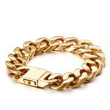 voordelige Heren Armband-Heren Dames Armbanden met ketting en sluiting Box Chain Luxe Klassiek Dubai Hip Hop Verguld Armband sieraden Goud Voor Bruiloft Dagelijks