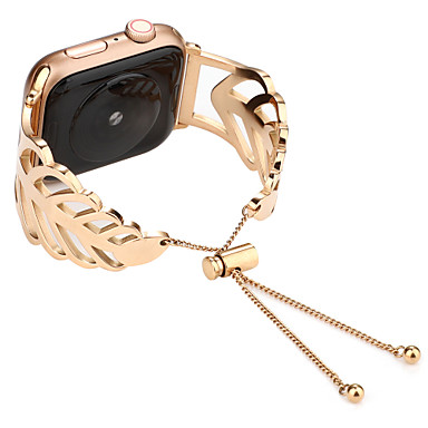tanie Opaski do Apple Watch-bransoletka z liści do zegarka jabłkowego z serii 4 3 2 1 38 / 40mm 42 / 44mm pasek do zegarka ze stali nierdzewnej