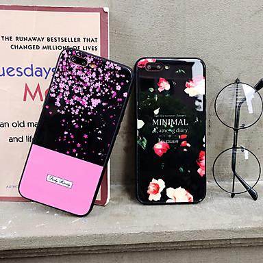 voordelige iPhone 7 hoesjes-hoesje Voor Apple iPhone XS / iPhone XR / iPhone XS Max Stofbestendig / met standaard / Patroon Achterkant Woord / tekst / Bloem TPU