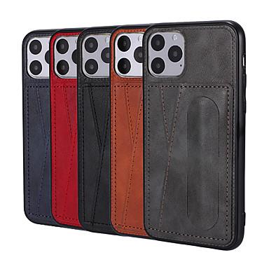 voordelige iPhone 7 hoesjes-hoesje Voor Apple iPhone 11 / iPhone 11 Pro / iPhone 11 Pro Max Portemonnee / Ultradun / Magnetisch Volledig hoesje Tegel PU-nahka