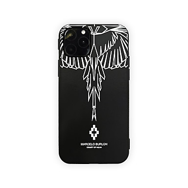voordelige iPhone 6 Plus hoesjes-hoesje Voor Apple iPhone 11 / iPhone 11 Pro / iPhone 11 Pro Max Ultradun / Patroon Achterkant Veren TPU