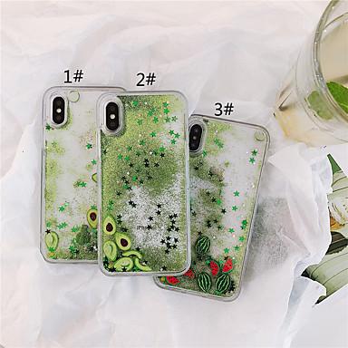 voordelige iPhone X hoesjes-hoesje Voor Apple iPhone XS / iPhone XR / iPhone XS Max Stromende vloeistof / Patroon / Glitterglans Achterkant Voedsel TPU