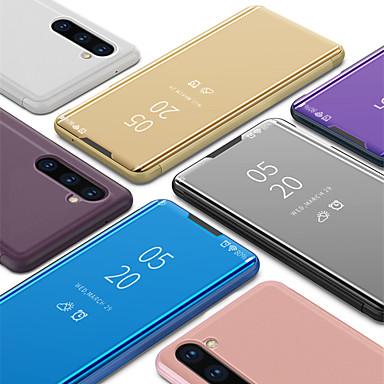 voordelige Galaxy Note-serie hoesjes / covers-luxe smart clear view spiegel flip stand telefoon case voor samsung galaxy note 10 note 10 plus note 9 note 8