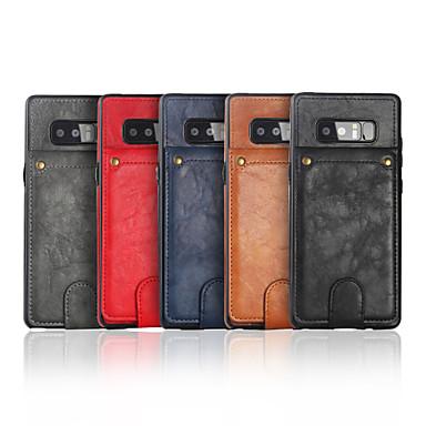 voordelige Galaxy Note-serie hoesjes / covers-hoesje Voor Samsung Galaxy Note 9 / Note 8 Kaarthouder / met standaard Achterkant Effen PU-nahka