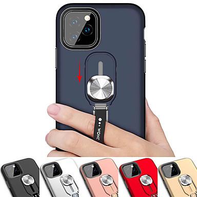 voordelige iPhone X hoesjes-magnetische ring standaard telefoon case voor iPhone 11 pro / iphone 11 / iphone 11 pro max schokbestendig armor back cover case voor iphone xs max xr xs x 8 plus 8 7 plus 7 6 plus 6 siliconen zachte