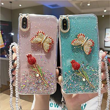voordelige Galaxy Note-serie hoesjes / covers-hoesje Voor Samsung Galaxy Note 9 / Note 8 / Galaxy Note 10 Patroon / Glitterglans Achterkant Vlinder / Glitterglans / Bloem TPU