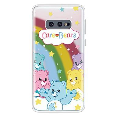 voordelige Galaxy S-serie hoesjes / covers-hoesje Voor Samsung Galaxy Galaxy S10 / Galaxy S10 Plus / Galaxy S10 E Ultradun / Transparant / Patroon Achterkant dier / Cartoon TPU