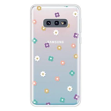 voordelige Galaxy S-serie hoesjes / covers-hoesje Voor Samsung Galaxy Galaxy S10 / Galaxy S10 Plus / Galaxy S10 E Ultradun / Transparant / Patroon Achterkant Bloem TPU