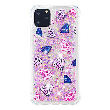 voordelige iPhone 7 hoesjes-hoesje Voor Apple iPhone 11 / iPhone 11 Pro / iPhone 11 Pro Max Schokbestendig / Stofbestendig Achterkant Glitterglans / Kleurgradatie TPU
