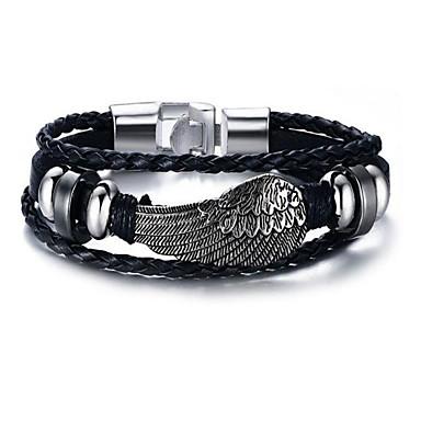 voordelige Heren Armband-Heren Lederen armbanden meetkundig Stijlvol Legering Armband sieraden Zilver Voor Dagelijks