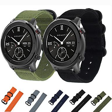 voordelige Horlogebandjes voor Samsung-nylon canvas horlogeband polsband voor xiaomi huami amazfit gtr 42 mm / amazfit bip jeugd / samsung galaxy horloge 42 mm smart watch armband polsband vervangbare accessoires