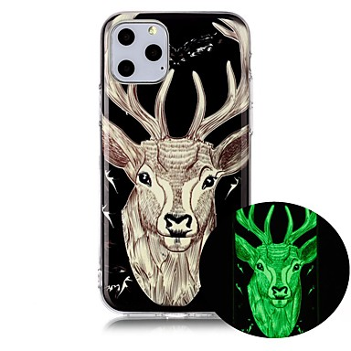 voordelige iPhone 7 hoesjes-hoesje Voor Apple iPhone 11 / iPhone 11 Pro / iPhone 11 Pro Max Glow in the dark / Ultradun / Patroon Achterkant dier TPU