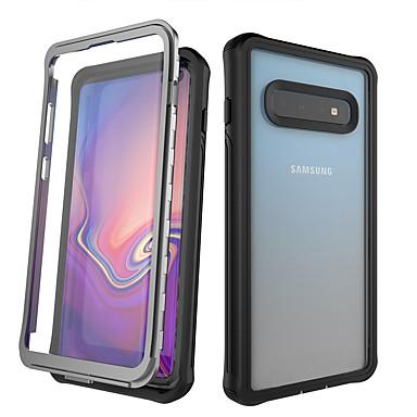 voordelige Galaxy S-serie hoesjes / covers-hoesje Voor Samsung Galaxy Galaxy S10 / Galaxy S10 Plus / Galaxy Note 10 Schokbestendig / Stofbestendig / Waterbestendig Volledig hoesje Transparant PC