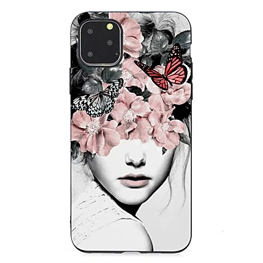 voordelige iPhone 5 hoesjes-hoesje Voor Apple iPhone 11 / iPhone 11 Pro / iPhone 11 Pro Max Ultradun / Mat / Patroon Achterkant Sexy dame TPU