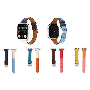 voordelige Smartwatch-accessoires-mode lederen horlogeband voor Apple horlogeband serie 5/4/3/2/1 sport armband voor iwatch 40mm 44mm 42mm 38mm band