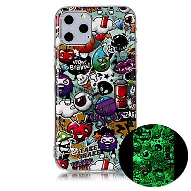voordelige iPhone 7 hoesjes-hoesje Voor Apple iPhone 11 / iPhone 11 Pro / iPhone 11 Pro Max Glow in the dark / Ultradun / Patroon Achterkant Cartoon TPU