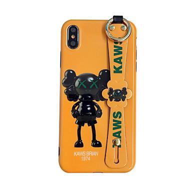 voordelige iPhone-hoesjes-hoesje Voor Apple iPhone 11 / iPhone 11 Pro / iPhone 11 Pro Max met standaard / Ultradun Achterkant Woord / tekst / Cartoon TPU / Metaal