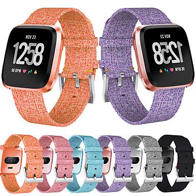 voordelige Smartwatch-accessoires-Horlogeband voor Fitbit Versa 2 Fitbit Klassieke gesp Roestvrij staal / Stof Polsband