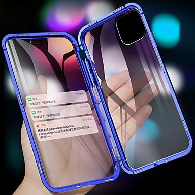 voordelige iPhone X hoesjes-magnetisch metalen dubbelzijdig gehard glazen telefoonhoesje voor iPhone 11 11 pro 11 pro max xs max xr xs x 8 8 plus 7 7 plus