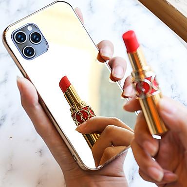 voordelige iPhone-hoesjes-mirror case voor iphone 11 / iphone 11 pro / iphone x / iphone 7 zachte tpu bumper glas achterkant voor make-up touch up en back camera selfies