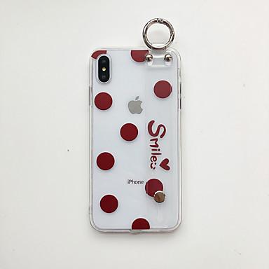 voordelige iPhone-hoesjes-hoesje Voor Apple iPhone XS / iPhone XR / iPhone XS Max met standaard / Ultradun / Patroon Achterkant Hart / Transparant TPU