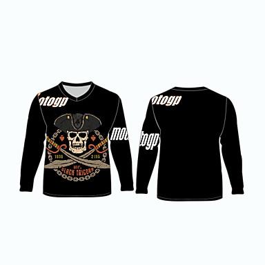 voordelige Motorjacks-motogp zwarte tricorn motorkleding shirts tops jersey voor unisex polyester / polyamide ademend / snel droog
