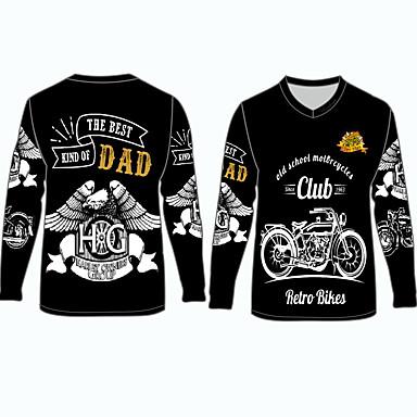 voordelige Motorjacks-old school motorfietsen club motorkleding shirts tops jersey voor unisex polyester / polyamide ademend / snel droog