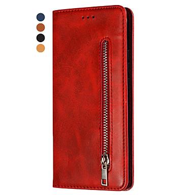 voordelige Galaxy Note-serie hoesjes / covers-hoesje Voor Samsung Galaxy Note 9 / Note 8 Portemonnee / Kaarthouder / Flip Volledig hoesje Effen PU-nahka / TPU