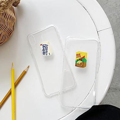 voordelige iPhone-hoesjes-hoesje Voor Apple iPhone XS / iPhone XR / iPhone XS Max Ultradun / Patroon Achterkant Voedsel / Transparant TPU