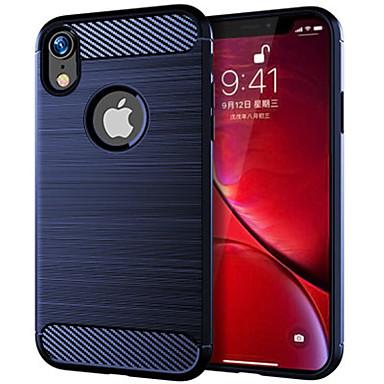 voordelige iPhone X hoesjes-hoesje voor Apple iPhone XR schokbestendig / ultradun / frosted achterkant lijnen / golven TPU