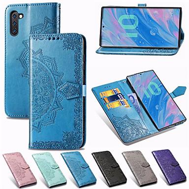 voordelige Galaxy Note-serie hoesjes / covers-Mandala reliëf portemonnee lederen flip telefoon case voor samsung galaxy note 10 plus note 9 note 8 kaarthouder stand case cover